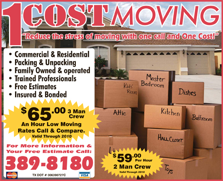 1 Cost Movers